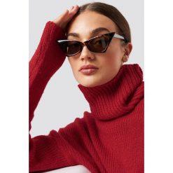 NA-KD Accessories Okulary przeciwsłoneczne Sharp Top Cat Ey - Brown. Brązowe okulary przeciwsłoneczne damskie marki NA-KD Accessories. W wyprzedaży za 37,07 zł.