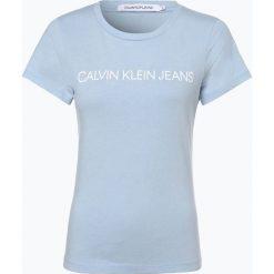Calvin Klein Jeans - T-shirt damski, niebieski. Niebieskie t-shirty damskie Calvin Klein Jeans, z jeansu. Za 139,95 zł.