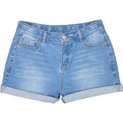 Jeansowe szorty z wysokim stanem 10-16 lat. Niebieskie spodenki chłopięce La Redoute Collections, z bawełny, młodzieżowe. Za 88,16 zł.