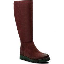 Kozaki EVA MINGE - Felipa 2P 17SM1372224EF 434. Czerwone buty zimowe damskie marki Eva Minge, z nubiku. W wyprzedaży za 319,00 zł.