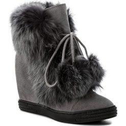 Botki R.POLAŃSKI - 0842/K Grafit. Czarne buty zimowe damskie marki R.Polański, ze skóry, na obcasie. W wyprzedaży za 319,00 zł.