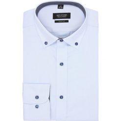 Koszula bexley 2322/2 długi rękaw slim fit niebieski. Niebieskie koszule męskie slim Recman, m, z długim rękawem. Za 129,00 zł.