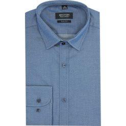 Koszula kelso 2017 długi rękaw slim fit granatowy. Niebieskie koszule męskie na spinki Recman, na lato, m, z bawełny, z klasycznym kołnierzykiem, z długim rękawem. Za 99,99 zł.