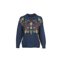 Swetry Smash  HONSHU. Niebieskie swetry klasyczne damskie marki BOTD, l. Za 287,20 zł.