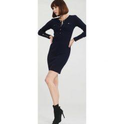 Granatowa Sukienka Right Music. Niebieskie sukienki dzianinowe marki other, na jesień, l. Za 99,99 zł.