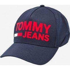 Tommy Hilfiger - Czapka. Szare czapki z daszkiem męskie marki TOMMY HILFIGER, z bawełny. Za 179,90 zł.