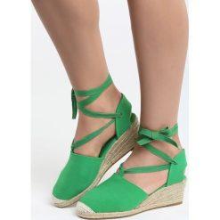 Czółenka: Zielone Koturny Hot-Tempered