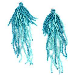 Kolczyki damskie: Kolczyki w kolorze turkusowym