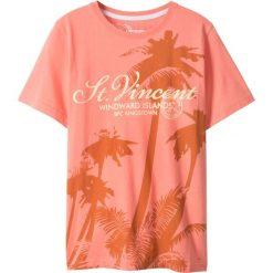 Odzież dziecięca: T-shirt bonprix łososiowy z nadrukiem