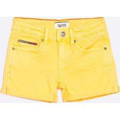 Tommy Hilfiger - Szorty dziecięce Nora 116-64 cm. Czarne szorty jeansowe damskie marki Mayoral, w paski, casualowe. W wyprzedaży za 119,90 zł.