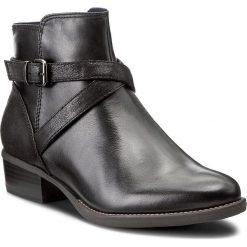 Botki TAMARIS - 1-25364-29 Black 001. Czarne buty zimowe damskie Tamaris, z materiału, na obcasie. W wyprzedaży za 239,00 zł.