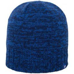 4F Męska Czapka H4Z17 cam008 Granat Ciemny L-Xl. Niebieskie czapki zimowe męskie marki 4f, z polaru, klasyczne. W wyprzedaży za 20,00 zł.