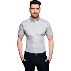 Koszula bexley 2512 krótki rękaw custom fit szary. Szare koszule męskie Recman, m, z krótkim rękawem. Za 89,99 zł.