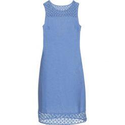 Sukienki: Sukienka lniana bonprix niebieski