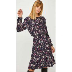 Liu Jo - Sukienka. Szare sukienki mini Liu Jo, na co dzień, z tkaniny, casualowe, z krótkim rękawem, rozkloszowane. Za 899,90 zł.