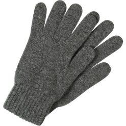 Johnstons Cashmere HAY Rękawiczki pięciopalcowe midgrey. Szare rękawiczki damskie Johnstons Cashmere, z kaszmiru. W wyprzedaży za 167,20 zł.