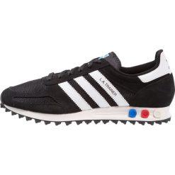 Adidas Originals LA TRAINER Tenisówki i Trampki core black/footwear white/vintage white. Czarne tenisówki damskie marki adidas Originals, z materiału. W wyprzedaży za 359,20 zł.