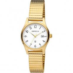 Zegarek kwarcowy w kolorze biało-złotym. Żółte, analogowe zegarki damskie Esprit Watches, ze stali. W wyprzedaży za 204,95 zł.