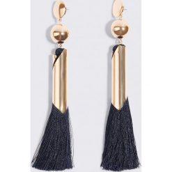 Kolczyki damskie: MANGO Wiszące kolczyki z chwostami – Blue,Gold