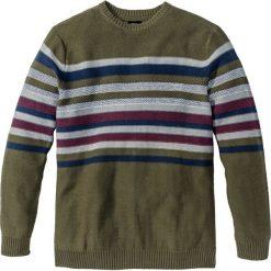 Swetry męskie: Sweter Regular Fit bonprix ciemnooliwkowy
