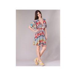 Sukienki krótkie Desigual  JEAPRO. Szare sukienki mini marki Desigual, l, z tkaniny, casualowe, z długim rękawem. Za 307,30 zł.