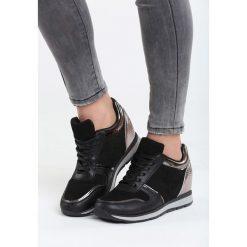 Czarne Sneakersy Burn It Down. Czarne sneakersy damskie Born2be, z materiału. Za 89,99 zł.