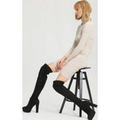 Czarne Kozaki Give Me Hug. Czarne buty zimowe damskie vices, na wysokim obcasie. Za 169,99 zł.