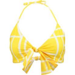 Stroje dwuczęściowe damskie: Lavish Alice ABSTRACT PRINT TIE FRONT  Góra od bikini yellow
