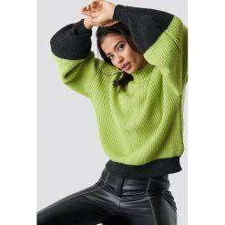 Trendyol Sweter z bufiastym rękawem - Green,Multicolor. Szare swetry klasyczne damskie marki Vila, l, z bawełny, z okrągłym kołnierzem. Za 100,95 zł.