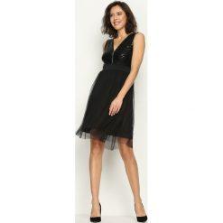 Sukienki hiszpanki: Czarna Sukienka Jazzy