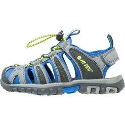 HiTec COVE Sandały trekkingowe grey/cobalt/limoncello. Szare sandały chłopięce Hi-tec, z materiału. W wyprzedaży za 125,30 zł.