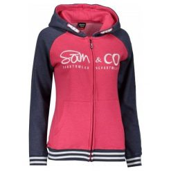 Sam73 Damska Bluza Wm 730 135 L. Różowe bluzy sportowe damskie sam73, l, z napisami, z kapturem. Za 159,00 zł.
