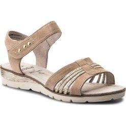 Rzymianki damskie: Sandały JANA – 8-28609-20 Beige 100