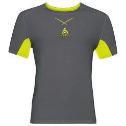 Odlo Koszulka Ceramicool Shirt s/s crew neck rozmiar L szaro-zółta. Szare koszulki sportowe męskie marki Odlo. Za 139,95 zł.