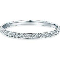 Bransoletki damskie: Posrebrzana bransoletka z kryształkami