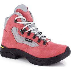 """Buty trekkingowe damskie: Skórzane buty trekkingowe """"Nimba"""" w kolorze czerwonym"""