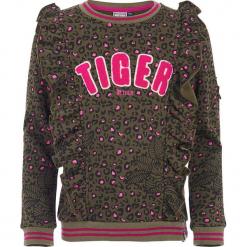 Bluza w kolorze khaki. Brązowe bluzy dziewczęce marki Retour Denim de Luxe, z aplikacjami, z materiału. W wyprzedaży za 125,95 zł.