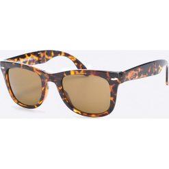 Superdry - Okulary. Brązowe okulary przeciwsłoneczne męskie aviatory Superdry, z materiału, owalne. W wyprzedaży za 59,90 zł.