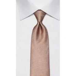 Krawaty męskie: Jedwabny krawat w kolorze złotym – szer. 8 cm