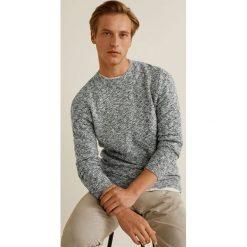 Mango Man - Sweter Boucle. Niebieskie swetry klasyczne męskie marki Reserved, l, z okrągłym kołnierzem. Za 199,90 zł.
