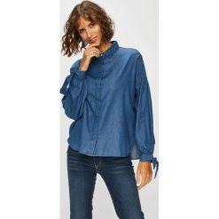 Levi's - Koszula. Brązowe koszule wiązane damskie marki Levi's®, l, z bawełny, klasyczne, z klasycznym kołnierzykiem, z długim rękawem. Za 259,90 zł.
