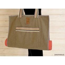 Torba na akcesoria do jogi/ Indian pattern. Brązowe torebki klasyczne damskie Pakamera, z tkaniny, duże. Za 239,00 zł.