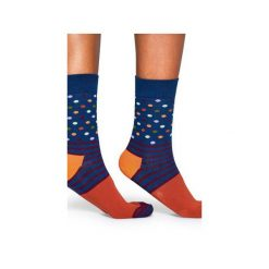 Skarpetki Happy Socks  SDO01-6001. Różowe skarpetki męskie Happy Socks, z bawełny. Za 20,00 zł.