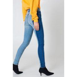 Cheap Monday Jeansy z wysokim stanem Skin - Blue. Niebieskie boyfriendy damskie Cheap Monday, z podwyższonym stanem. W wyprzedaży za 101,48 zł.