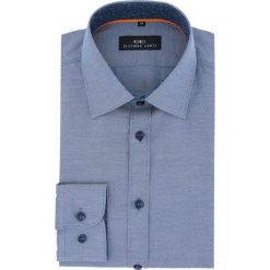 Koszula APOLLO 16-03-08. Szare koszule męskie na spinki marki S.Oliver, l, z bawełny, z włoskim kołnierzykiem, z długim rękawem. Za 149,00 zł.