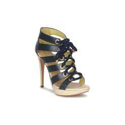 Sandały Pollini  PA1609CC1V. Niebieskie sandały damskie Pollini. Za 1983,20 zł.