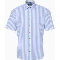 Nils Sundström - Koszula męska, niebieski. Niebieskie koszule męskie na spinki Nils Sundström, l, z krótkim rękawem. Za 99,95 zł.