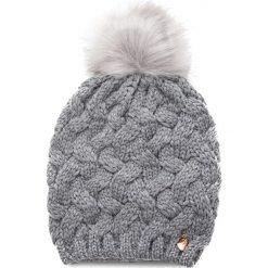 Czapka GUESS - AW7877 WOL01 GRY. Szare czapki zimowe damskie Guess, z materiału. Za 169,00 zł.