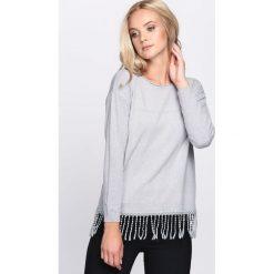 Swetry klasyczne damskie: Jasnoszary Sweter Lock Out