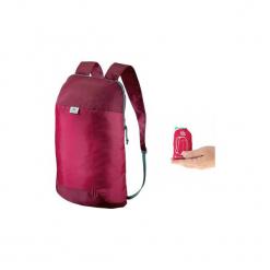 Plecak turystyczny Travel ultra compact 10l. Czerwone plecaki męskie marki QUECHUA, z materiału. Za 7,99 zł.